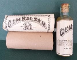 BEST antique victorian GEM BALSAM unused QUACK MEDICINE BOTTLE cattahr c... - $124.95