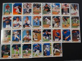 1991 Upper Deck UD Atlanta Braves Team Set of 30 Baseball Cards Missing ... - $5.00