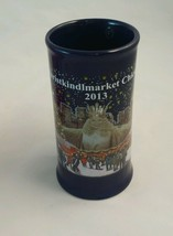 Christkindlmarket 2013 Chicago Daley Plaza Blue Tankard Shaped Mug - $7.91