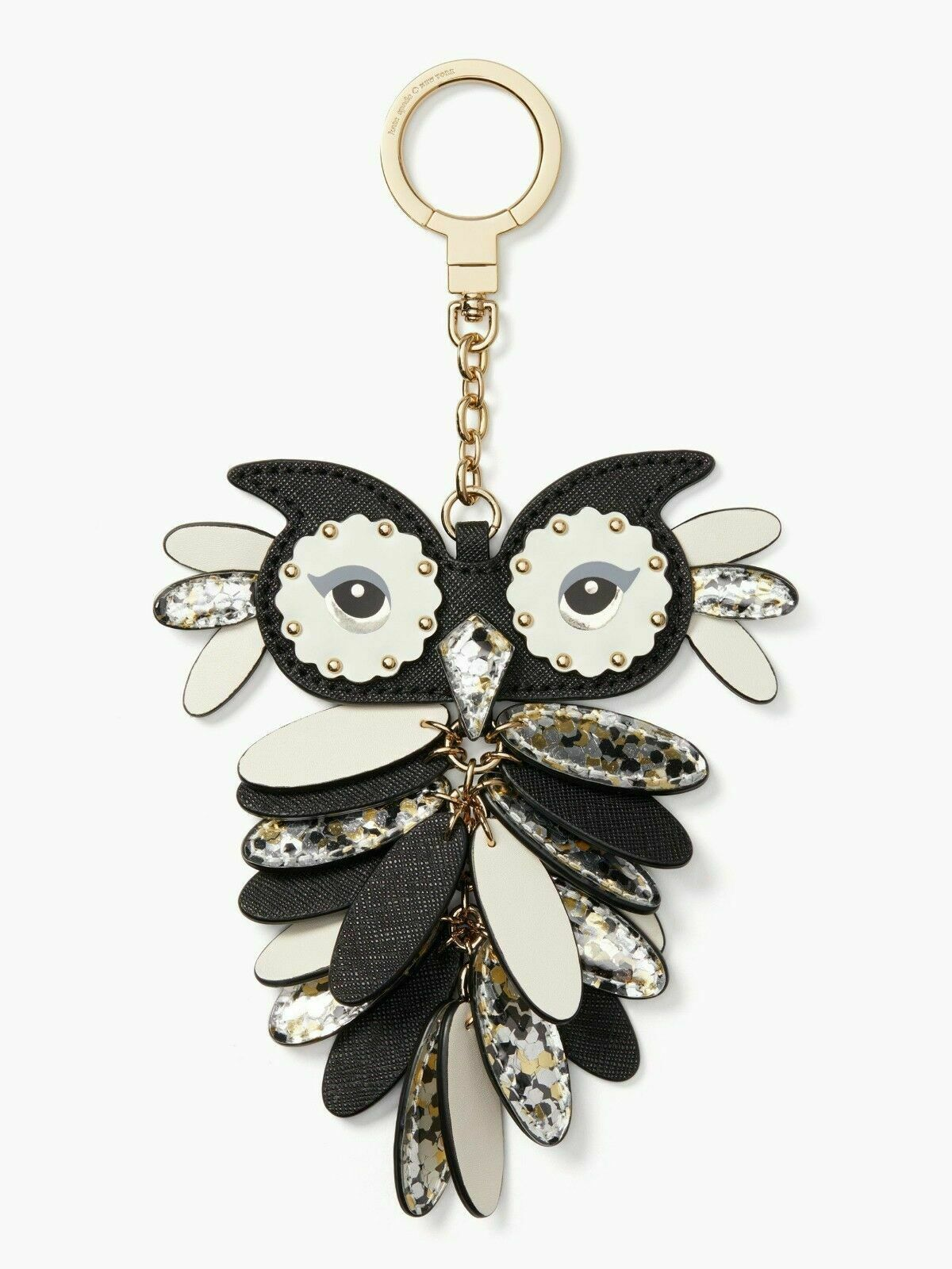 Primary image for NWT Kate Spade Multicolor New York Keychain Key Fob Owl Keychain Charm