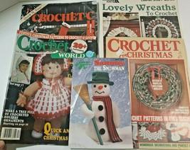 Christmas Crochet Patterns Projects 75 + Lot 5 Leaflets Leisure Arts ACS - $29.99