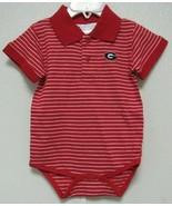 NCAA Georgia Bulldogs Circle G Stripe Jersey Golf Shirt Creeper Two Feet... - $20.95