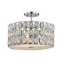 Elk Lighting 81154/3 Tessa - Three Light Semi-Flush Mount, Polished Chro... - $312.90