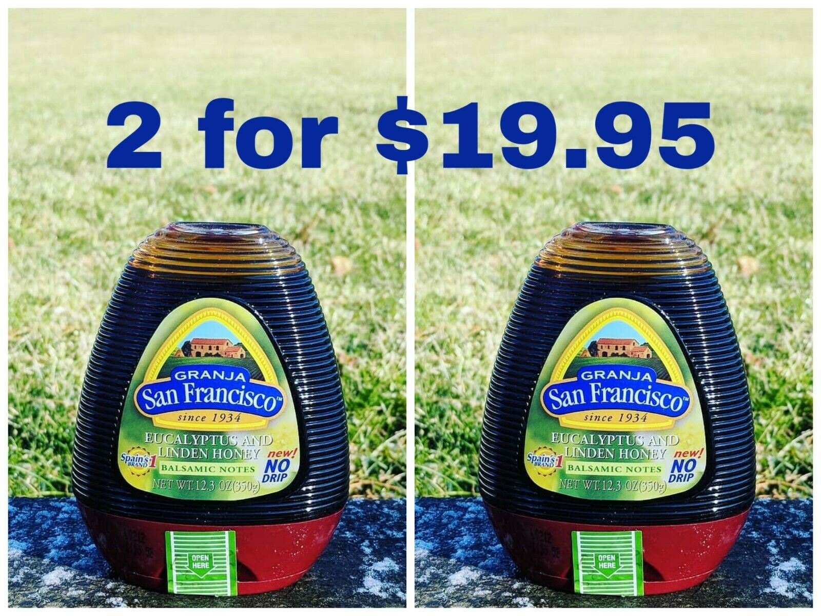 Eucalyptus and Linden Honey 12.3 oz Spain's #1 Brand! (2 for the price of 1) - $19.95