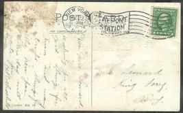 1914 (Dec 22) 1 cent Washington on postcard NY Tremont station - Christmas - $4.00