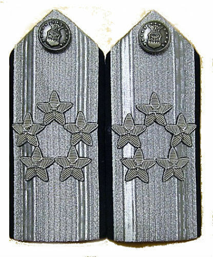 US AIR FORCE 5 STARS GENERAL MALE MESS DRESS SHOULDER BOARDS NON ISSUED  CP MADE
