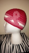 Breast Cancer Awareness Handmade Crochet Hat/Pink  - $22.56 CAD