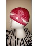 Breast Cancer Awareness Handmade Crochet Hat/Pink  - $18.00