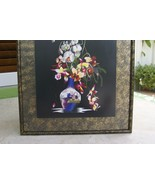 Orchid Bouquet Silk Hmong Embroidery Needlework Museum Masterpiece Art F... - $569.99