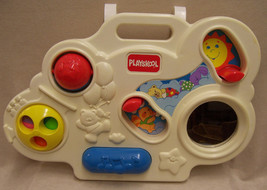 Playskool Busy Box Crib Playpen Toy 1992 White & Colors - $9.89