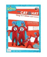Dr. Seuss The Cat In The Hat Things Deluxe Adult Costume Kit Large/XLarg... - $60.94