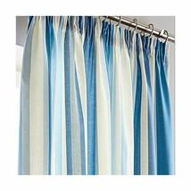 New Hampton Stripe Blue 46 x 54'' Pencil Pleat Curtains - $20.48