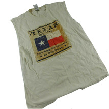 Vintage Texas Mens T Shirt Med White Graphic Cut off Sleeves Fruit of Th... - $15.83