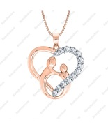 Love Gift Mother & Child Pendant Necklace Diamond Accents 14K Rose Gold ... - $79.89