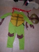 boys ninja turtle costume.sz7,jumpsuit,hard turtle shell,eye mask,knife - $9.19