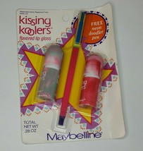 90s Maybelline Kissing Koolers Lip Gloss Watermelon Peppermint Flavor Do... - $64.33