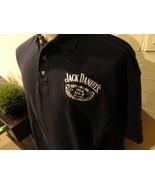 Black Chase Authentics Jack Daniels #20 NCAA Car Racing Cotton Polo Shir... - $27.71