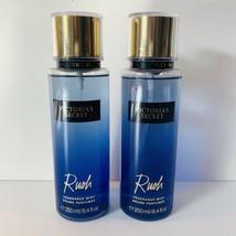 Victorias Secret Rush Fragrance Body Mist Spray Perfume 8.4 oz Lot of 2 New - $69.29