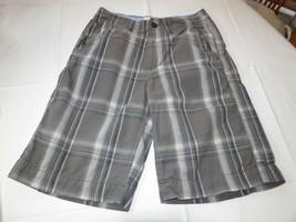 Herren American Eagle Outfitters Kariert Dunkelgrau Walk Shorts 28 Gebraucht EUC - $16.03