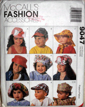 McCall's Fashion Accessories Hats Children Pattern 9047 Boys Girls Caps ... - $11.00