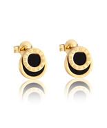 High Quality Black Enamel Roman Numerals Stud Earrings For Women/Men Girls Pierc - $9.29