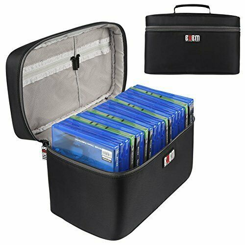 BUBM Portable Carrying Case Compatible with PS4/ PS4 PRO, Fit Black-20 disc - $32.13