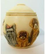 Jardina Martin Perry Dogs Treasure Jar Lots of Breeds Three Inches - $23.00