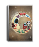 Jack Skellington Sally I Love You To The Moon CANPO75 Canvas .75in Frame - $25.00+