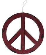 """Attraction Design Metal Treasured Red Peace Sign, 12"""" - $10.15"""