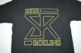 WWE Seth Rollins Yellow SR Logo T-Shirt Black Authentic Wrestling Mens M Sharp! - $22.65