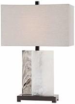 Uttermost Vanda White Rectangular Slabs Table Lamp image 2