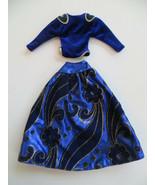 Vintage 1985 Barbie Oscar de la Renta Collector Series Xll Blue Velvet F... - $15.00