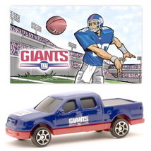 NEW YORK GIANTS DIECAST TRUCK FORD F-150 PICK-UP 1:87 SCALE W/STICKER 2 PK - $5.98