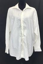 Sean John White Button-up Long sleeve Shirt Sz 16.5 32/33 Size Lg - $16.63