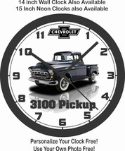 1957 CHEVROLET 3100 PICKUP TRUCK WALL CLOCK & FREE USA SHIPPING! - $28.70+