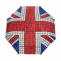 COOSUN UK Flag Union Jack-Mosaik-Automatik 3 Folding Sonnenschirm-Regens... - $44.83