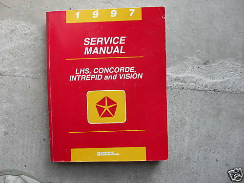 1997 Chrysler LHS Concorde Vision Dodge Intrepid Service Shop Repair Manuell OEM