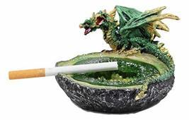Ebros Green Perching Double Headed Hydra Dragon Guarding Emerald Pool Qu... - $18.80
