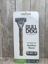 New Bulldog Original Mens Bamboo Razor w/ Handle & 2 Cartridges~steel Bl... - $9.85