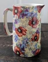 Staffordshire Pottery. Vintage. Large jug-Poppies - $55.00