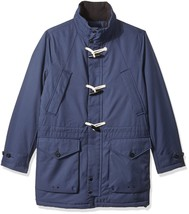 $298 Nautica Men's Weather-Resistant Hooded Toggle Coat, Mood Indigo, L - $138.59