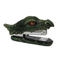 PT Dragon Green Head Golden Eyes Decorative Functional Stapler Figurine ... - $24.74