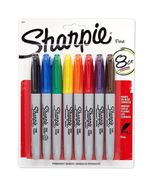 Sharpie Fine Point Permanent Marker, Assorted 8 Pens [New] - $13.98