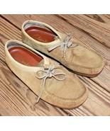 Clarks Size 11.5 Originals WALLABEE 36405 Sand Beige Suede Crepe Soles S... - $56.99