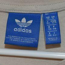 adidas Originals Women's Boyfriend Cream Off-White Trefoil T-Shirt Size S image 3