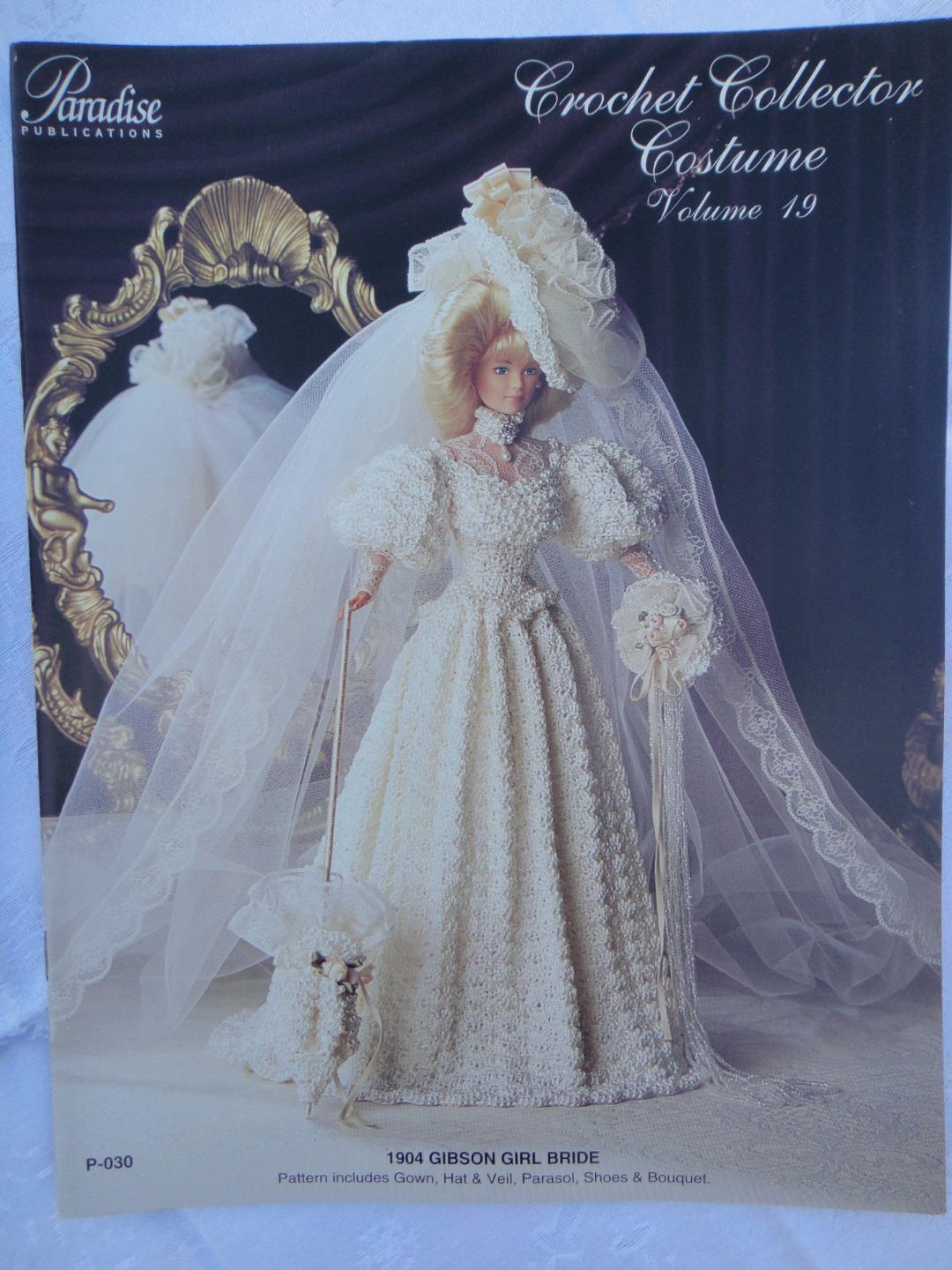 "Primary image for Paradise Crochet 11 1/2"" Doll Pattern 1904 GIBSON GIRL BRIDE P-030"
