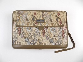 Vintage Jordache Floral Tapestry Small Suitcase Carry On - $46.74