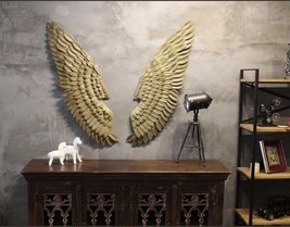 Archangel Wings Wall Sculpture Creative Home Decor Abstract Angel Metal ... - $199.99