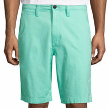 Arizona Men's Chino Shorts Mint Green Size 30W Flex 10.25 Inseam NEW - $21.77
