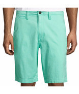 Arizona Men's Chino Shorts Mint Green Size 30W Flex 10.25 Inseam NEW - £16.57 GBP